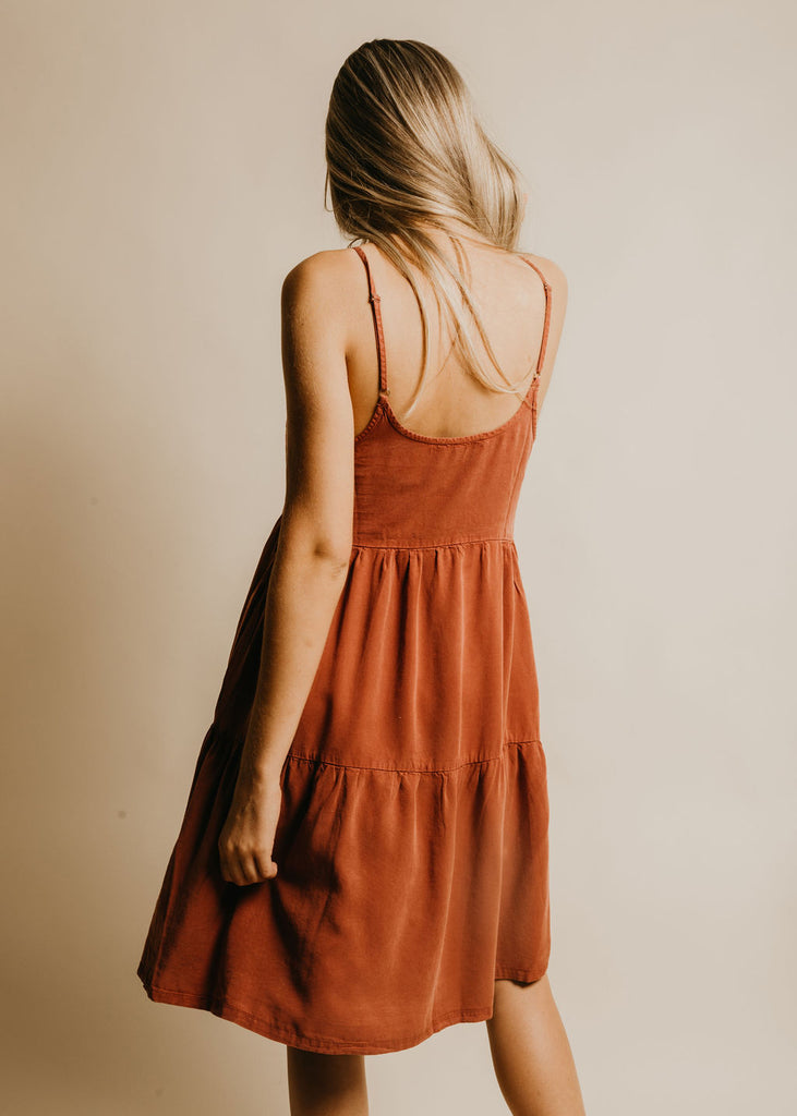 Harmony Midi Dress - Brick