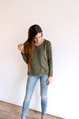 Hattie Sweater - Olive