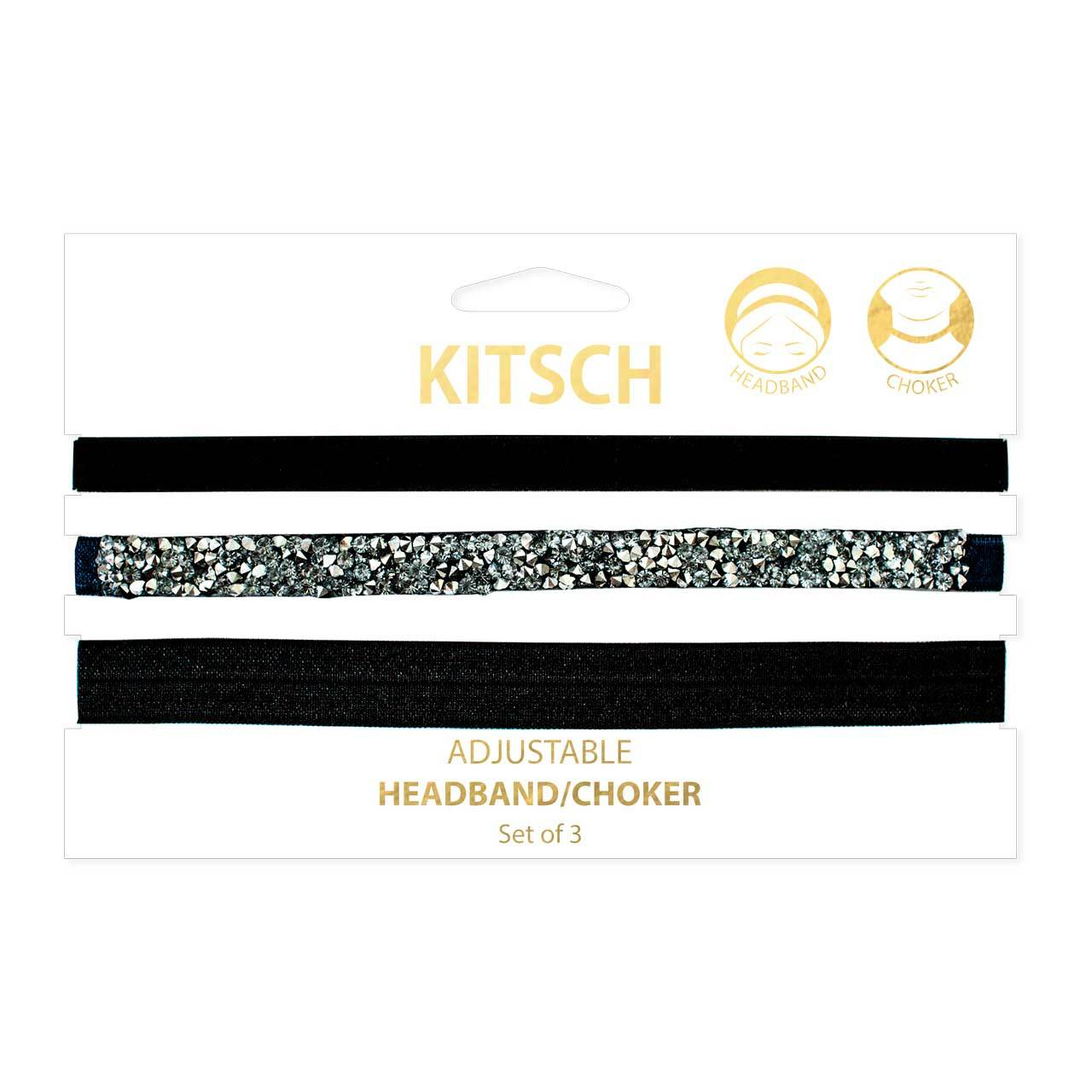 Headband/Choker Set - Navy Crystal
