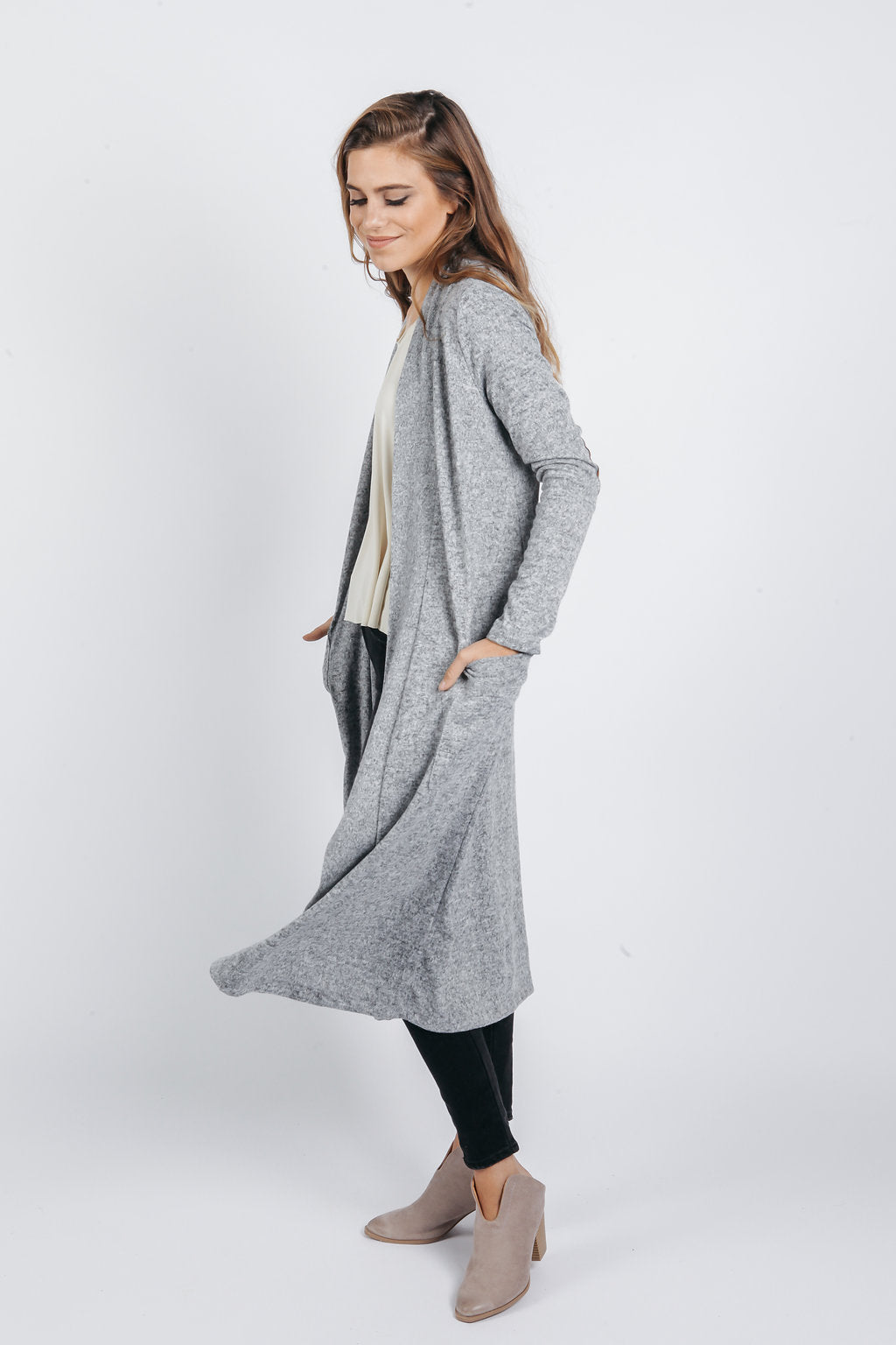 Heather Cardigan - Heather Grey