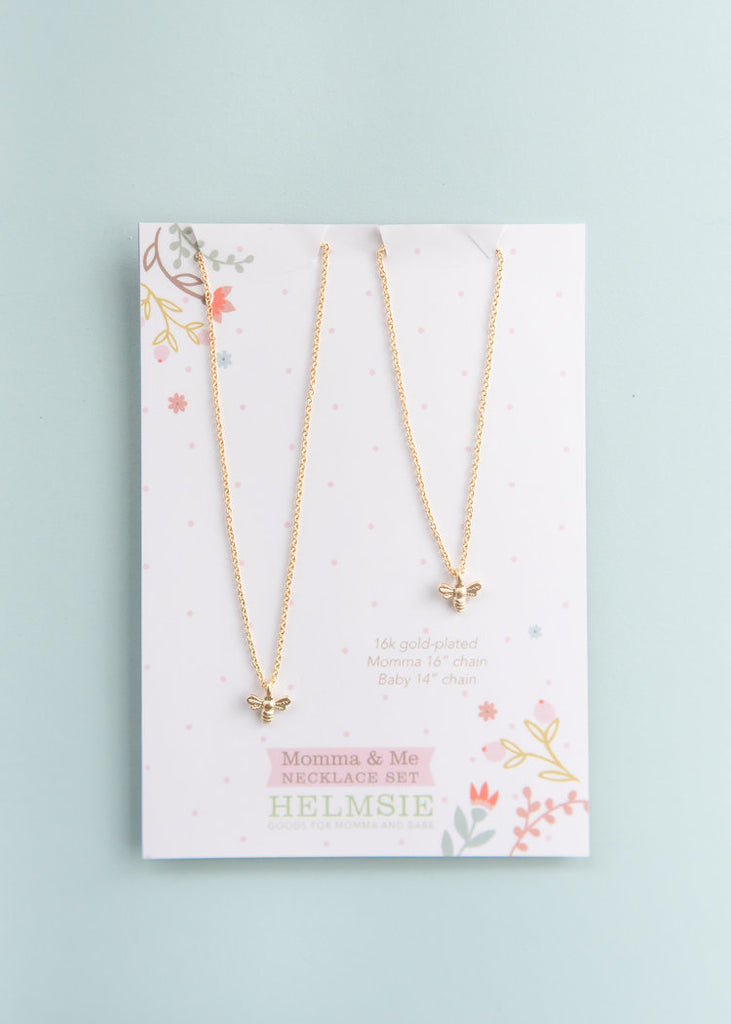 Mama and Me Bees Necklace Set
