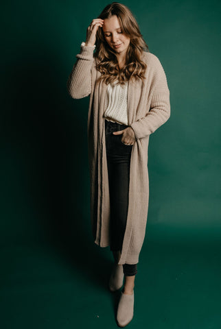 Sutton Cardigan - Taupe