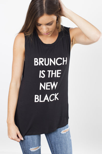 Brunch Black Tee - Black - Vinnie Louise - 2