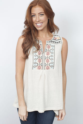 Millie Tank Top - Oatmeal