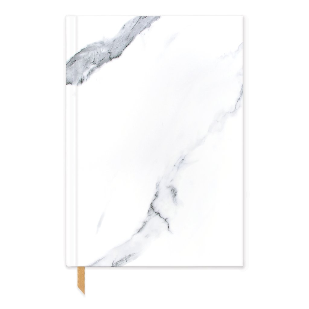 White Marble Pocket Journal