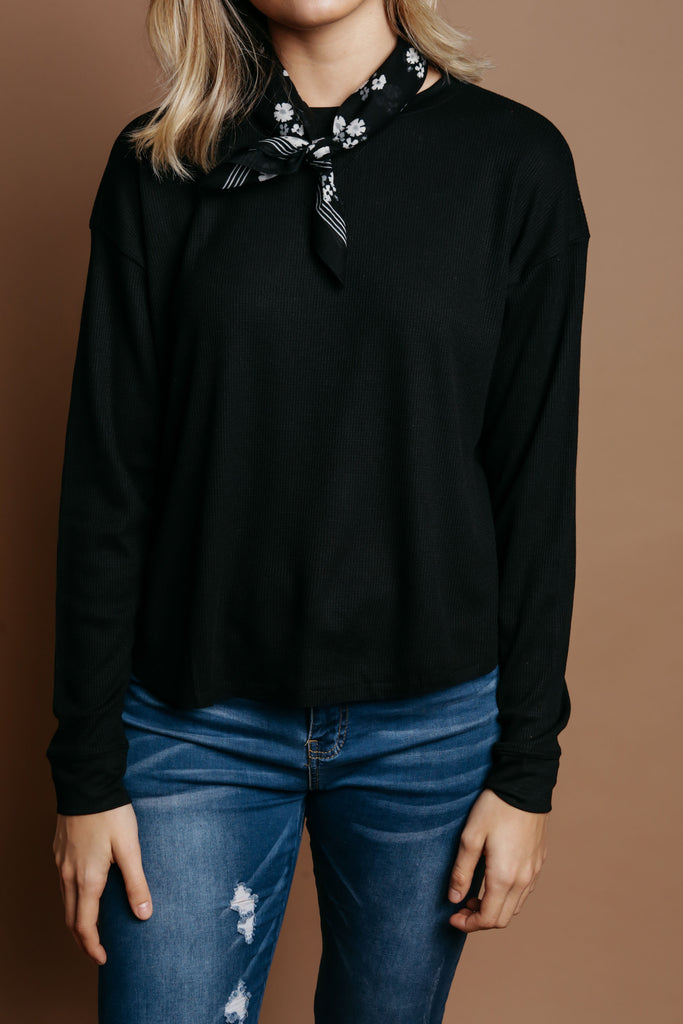 Jordyn Thermal Top - Black