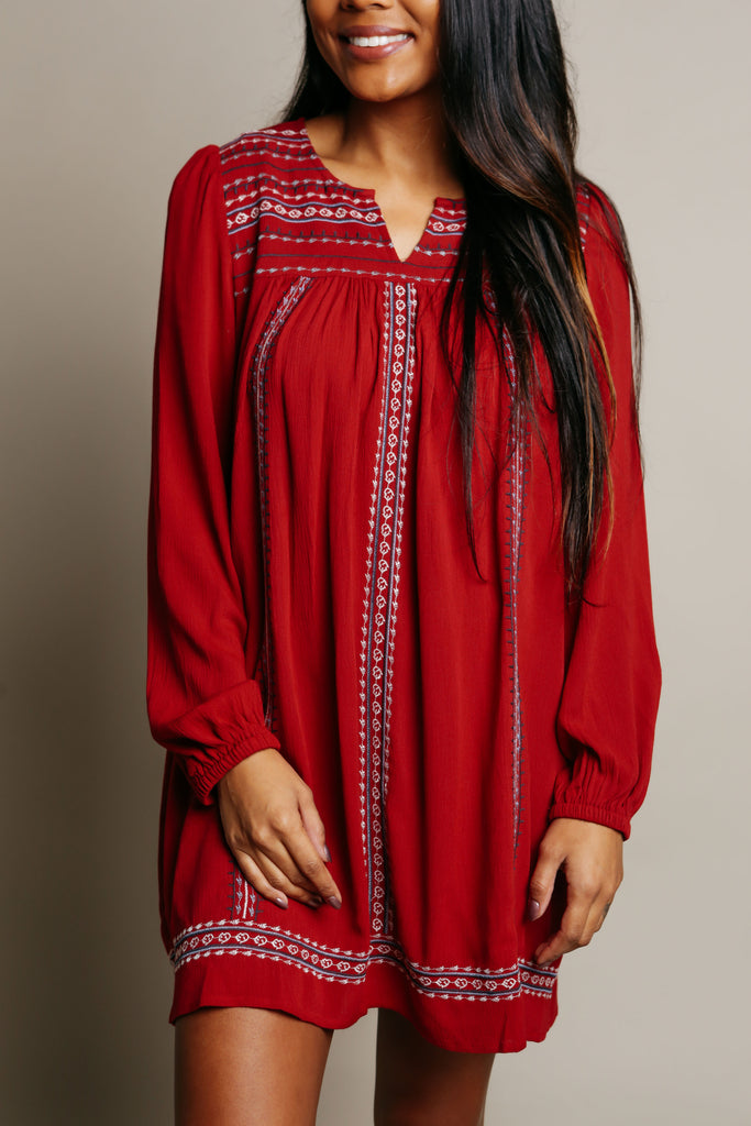 Kali Embroidered Dress