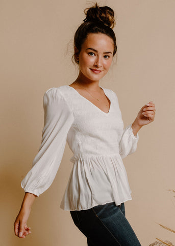 Kendal Blouse - Ivory