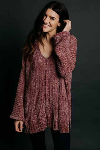 Kendall Sweater - Rose