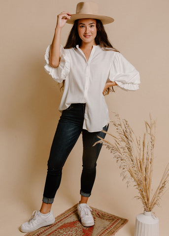 Kennedy Blouse - Ivory