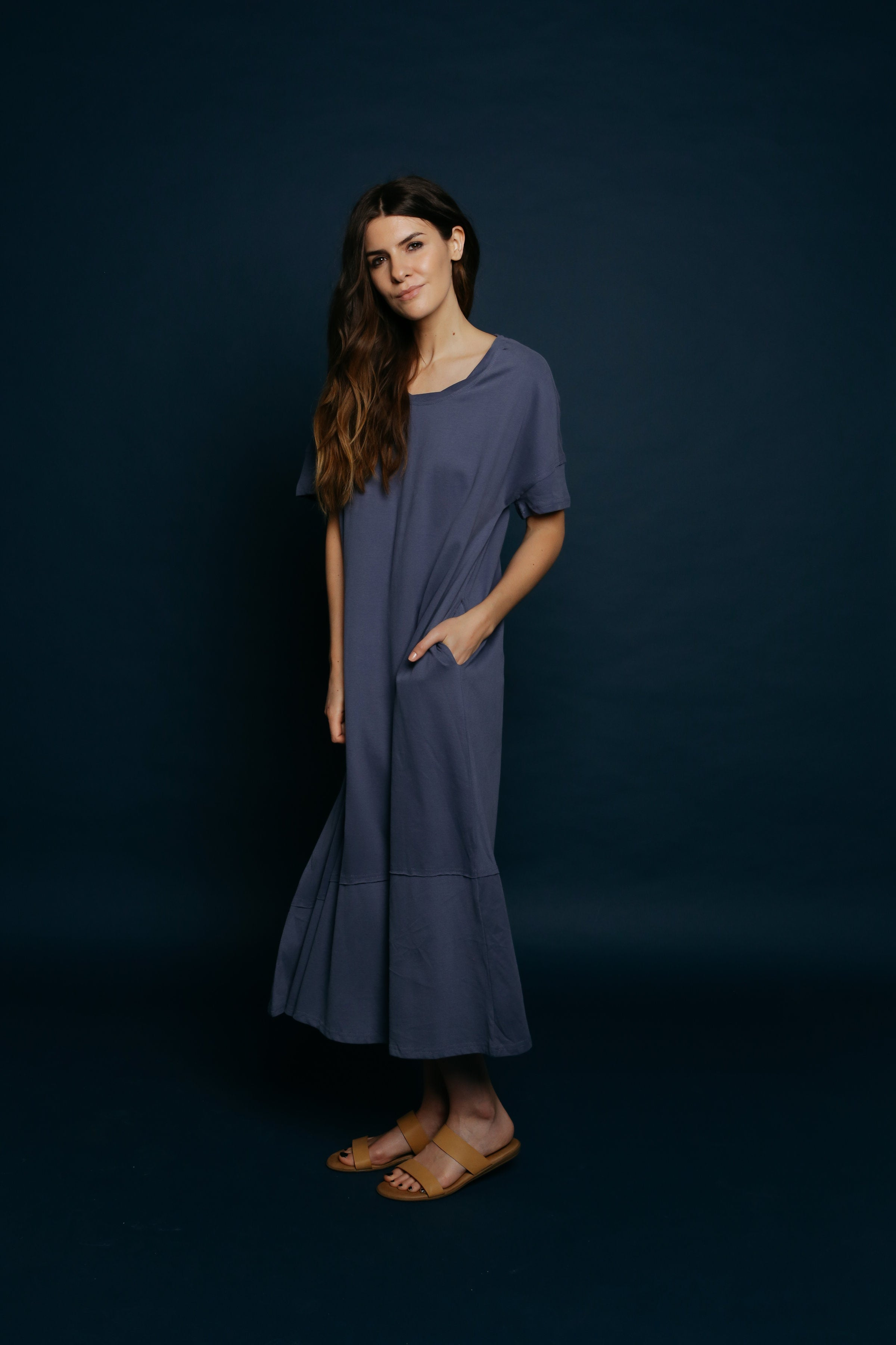 Kiera Maxi Dress - Blue