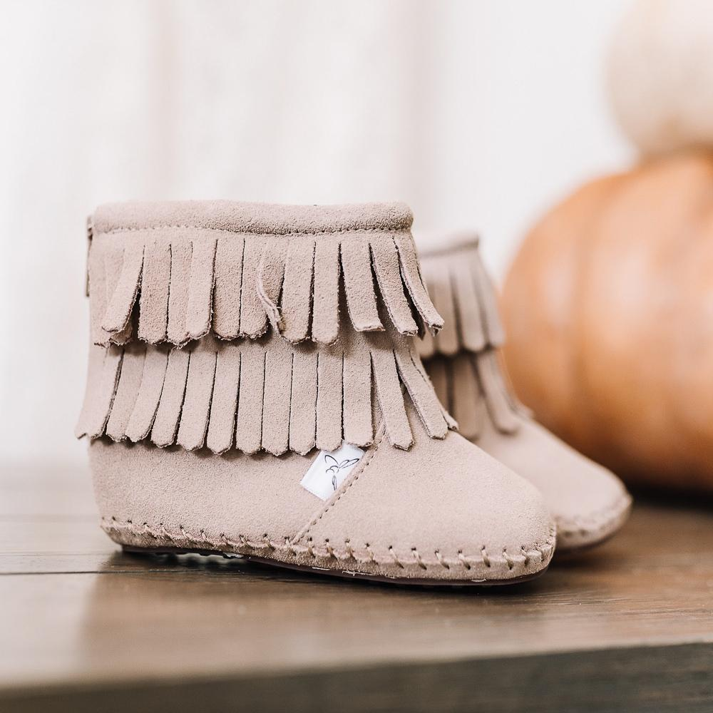 Soft Sole Moccasin Boot - Chestnut