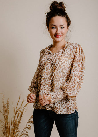 Layken Blouse - Tan