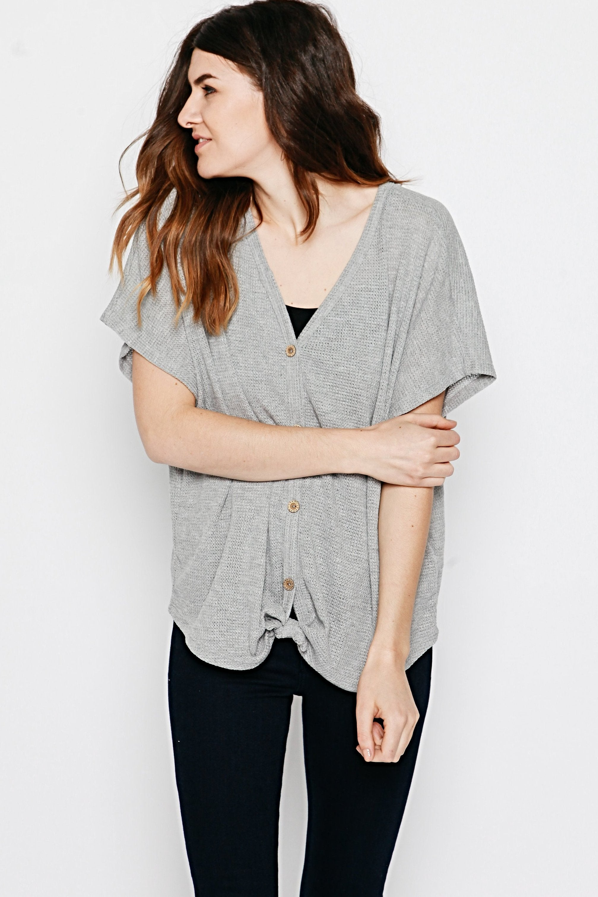 Layla Thermal Top - Heather Grey