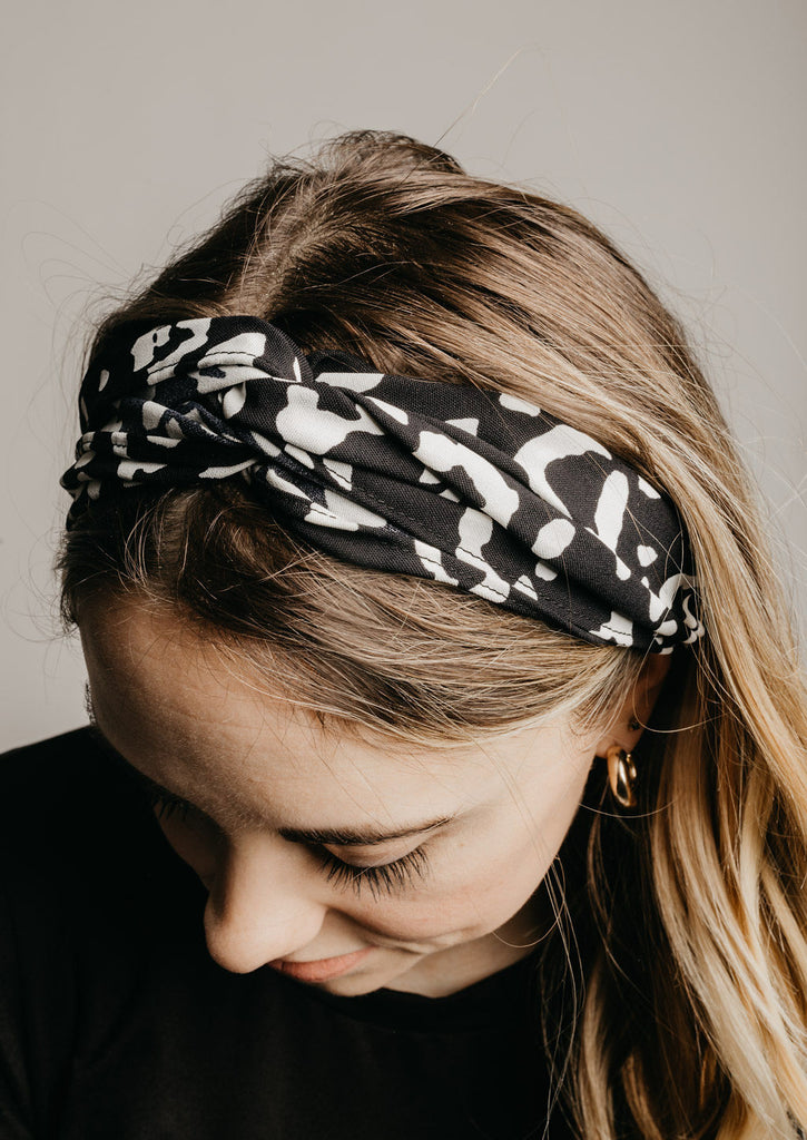 Leopard Headband - Black