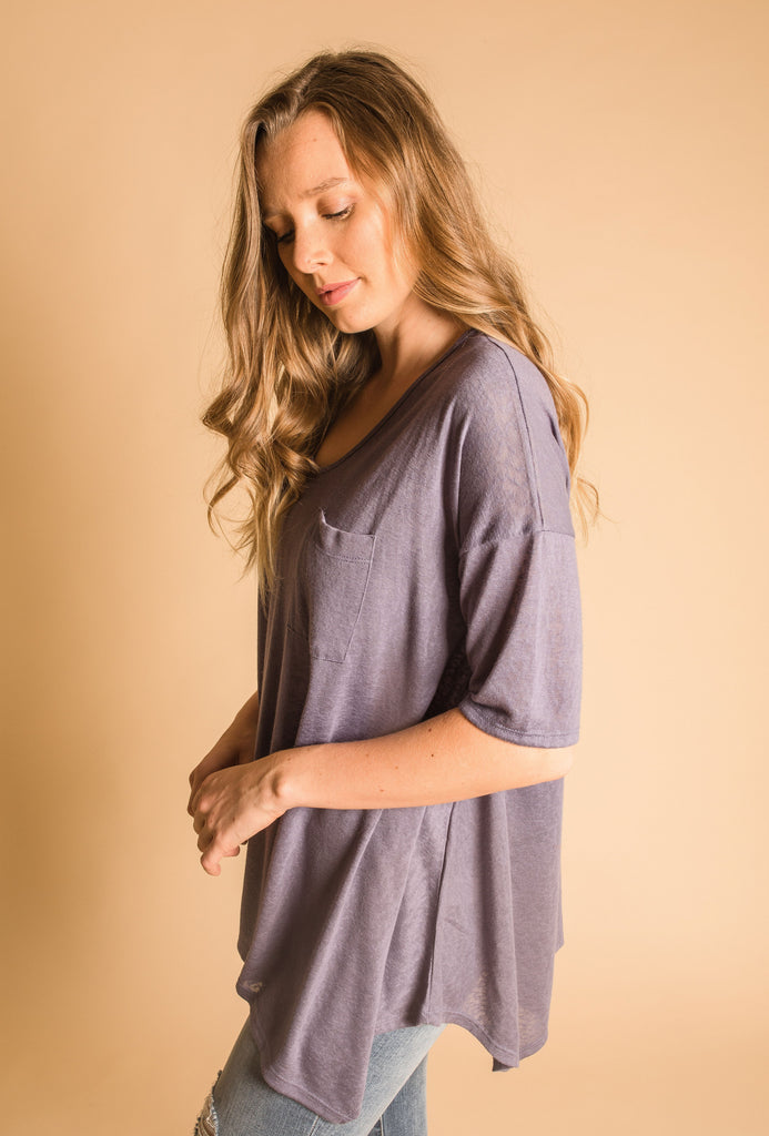 Lila Top - Slate Blue