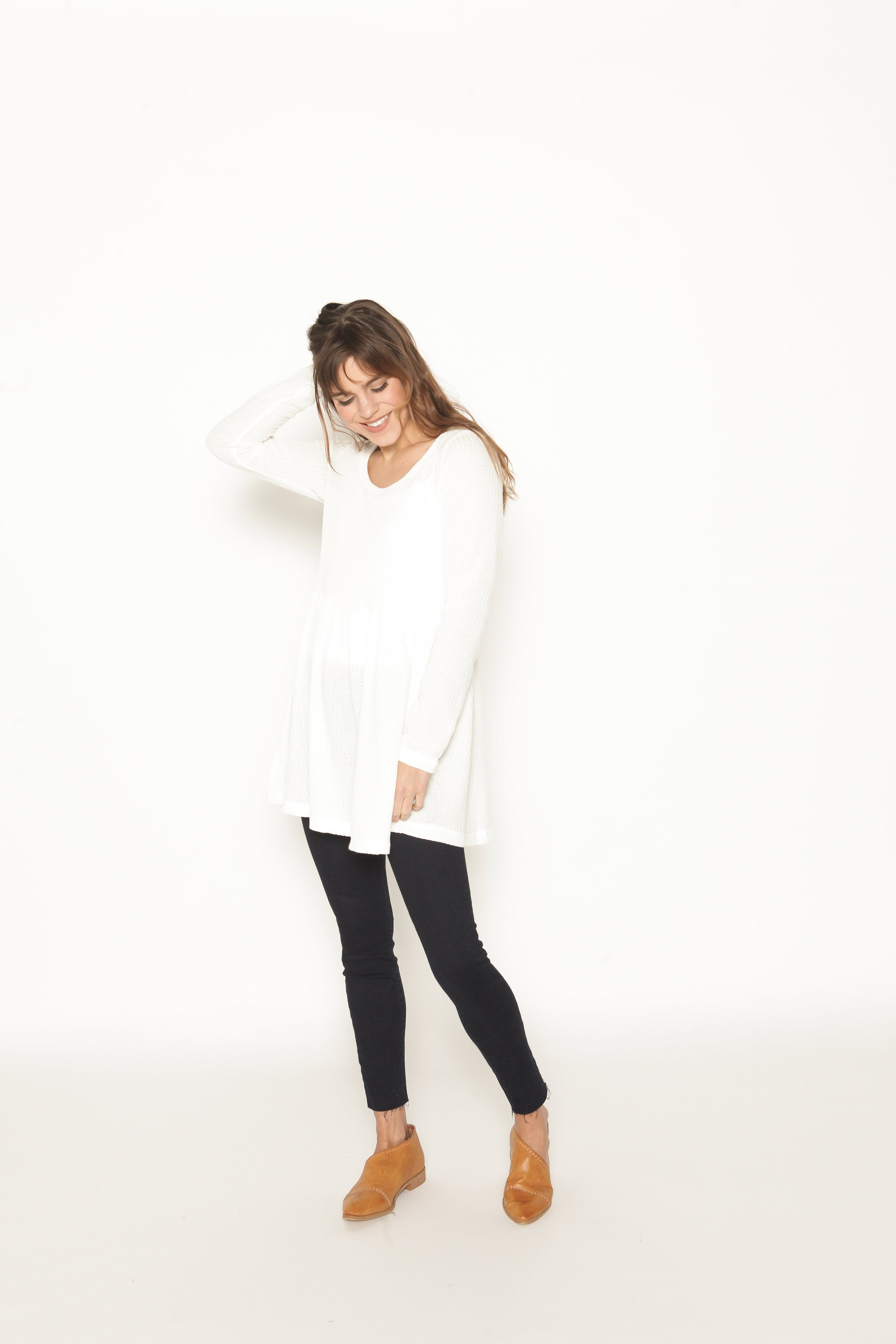 Londyn Thermal Tunic - Cream Top - Vinnie Louise