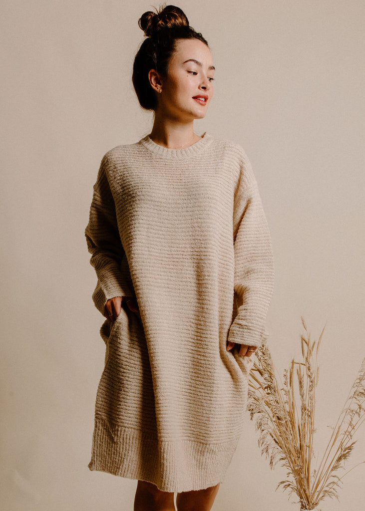 Lucca Sweater Dress - Oatmeal