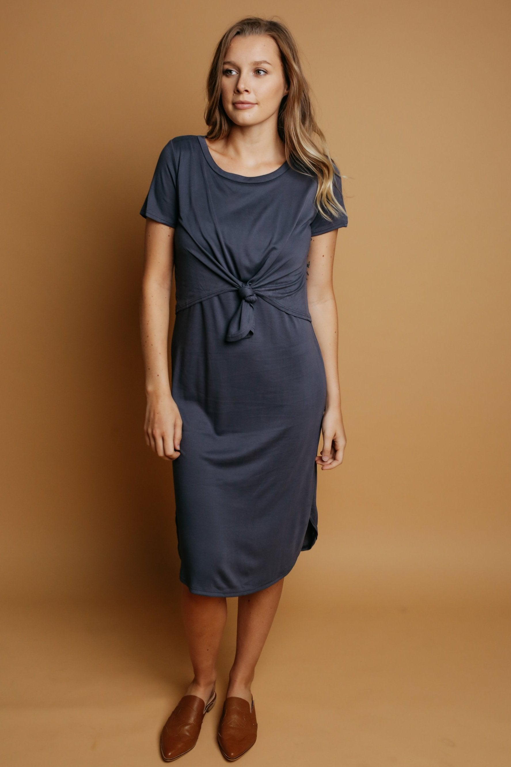 Lucille Dress - Charcoal
