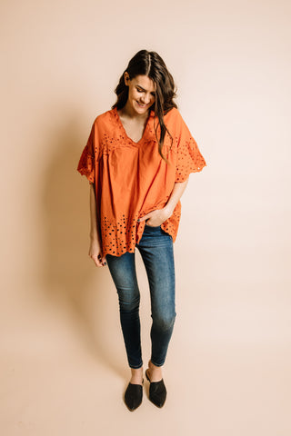 Lucy Blouse - Rust