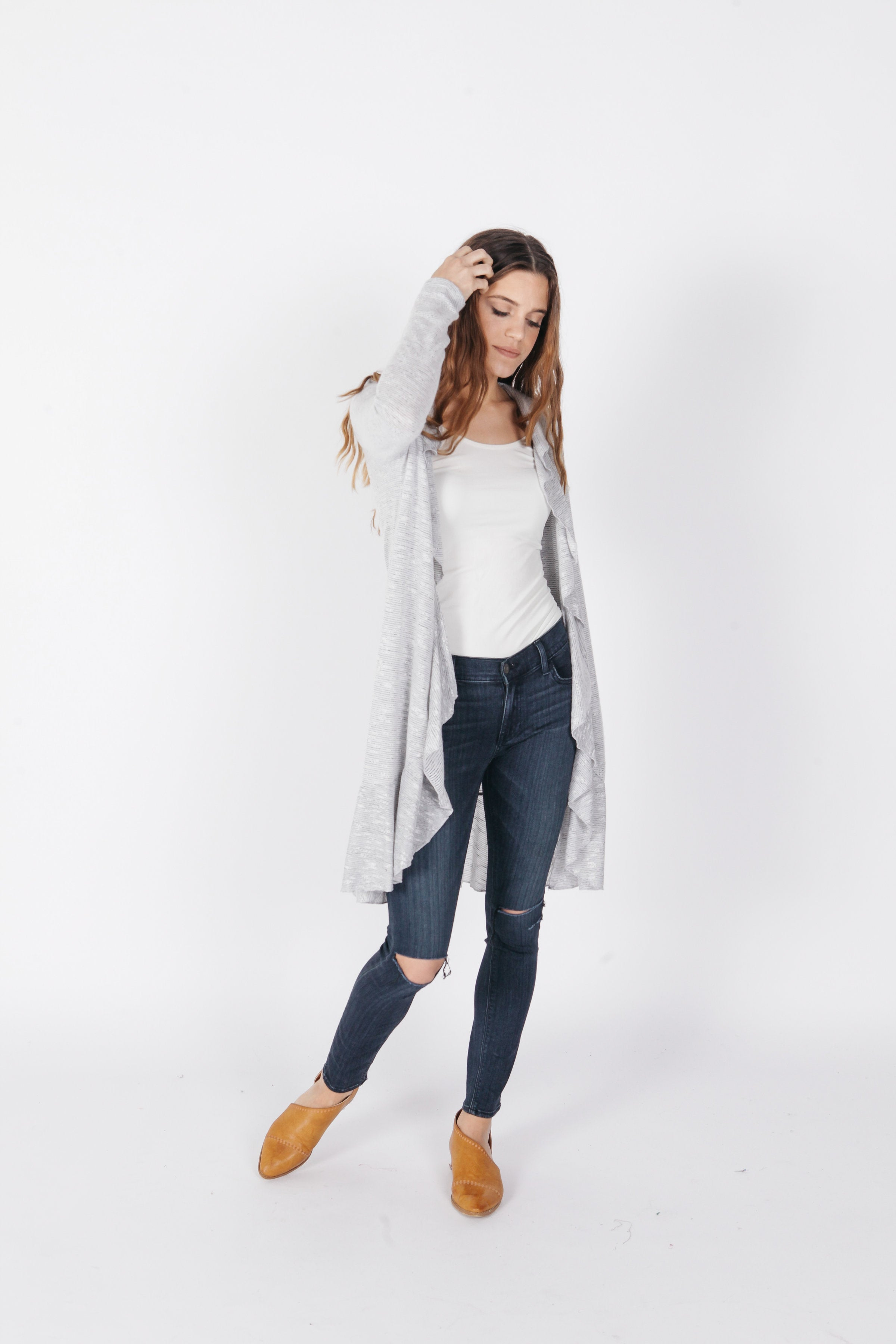 Margaux Cardigan - Heather Grey