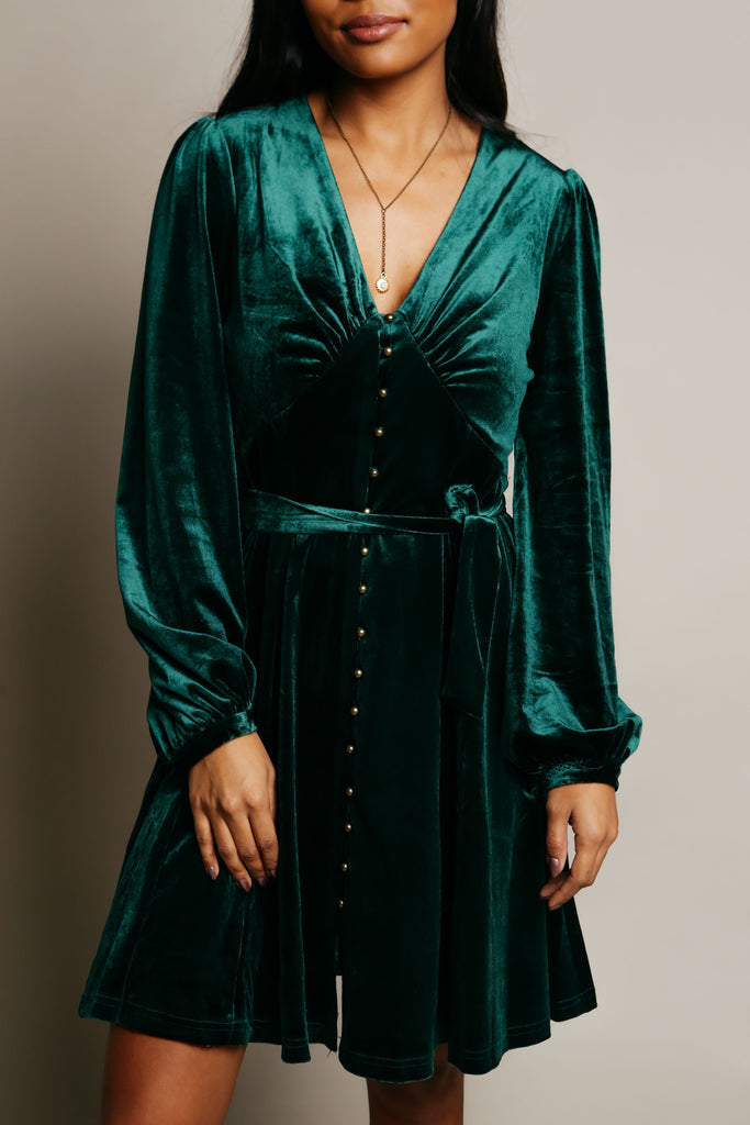 Marilyn Dress - Hunter Green