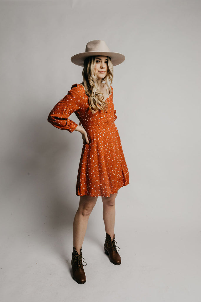 Meadow Dress - Rust