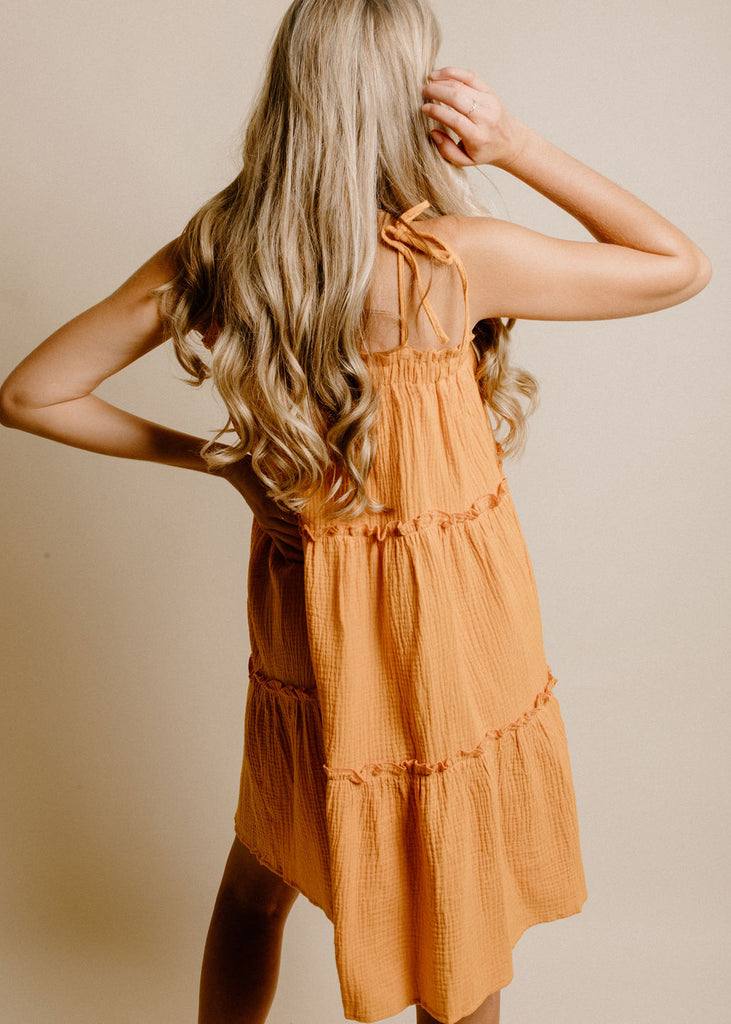 Melodie Dress - Tangerine