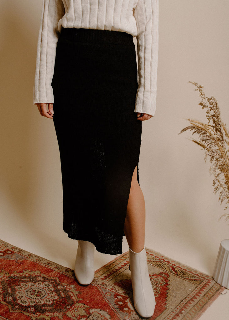 Mercer Midi Skirt - Black