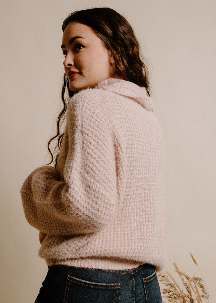 My Kind of Turtleneck- Dusty Pink