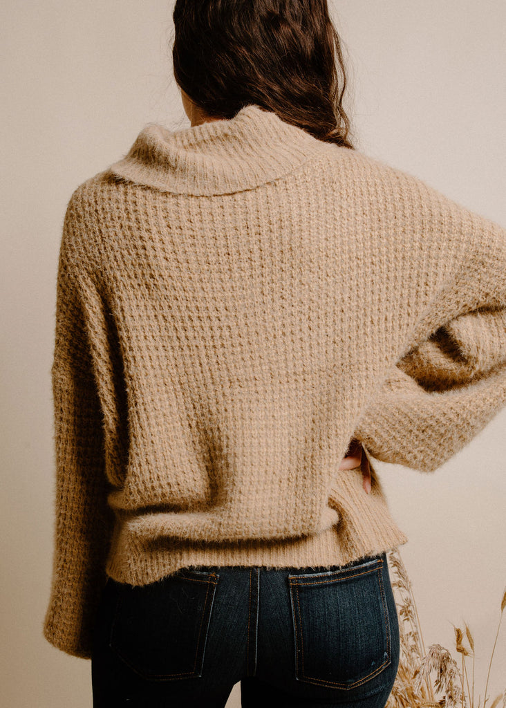 My Kind of Turtleneck- Light Taupe