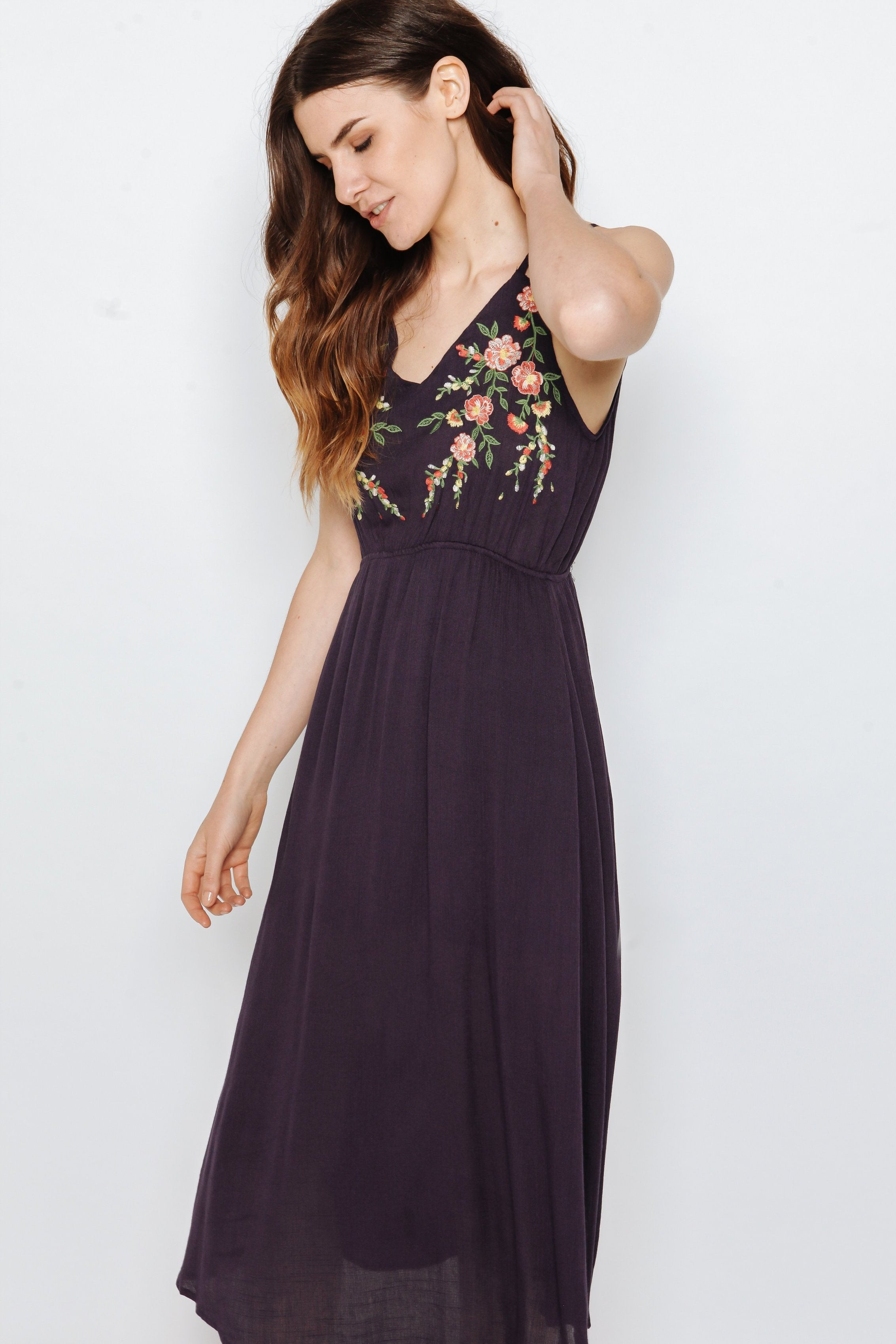 Paislee Dress - Navy