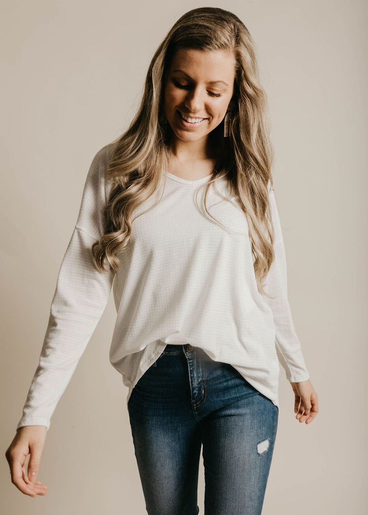 Paisley Top - Ivory
