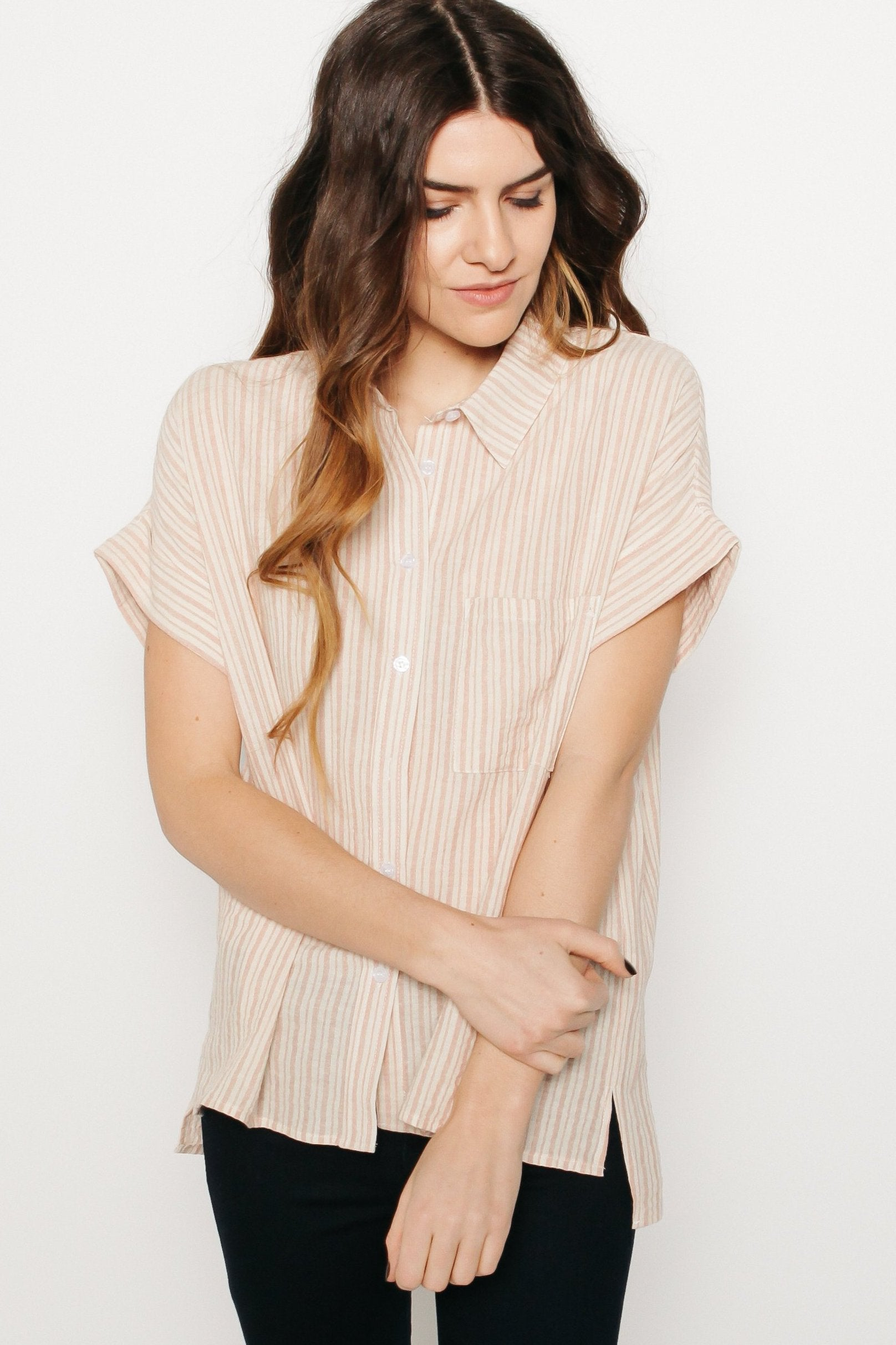 Penny Short Sleeve Button-Up