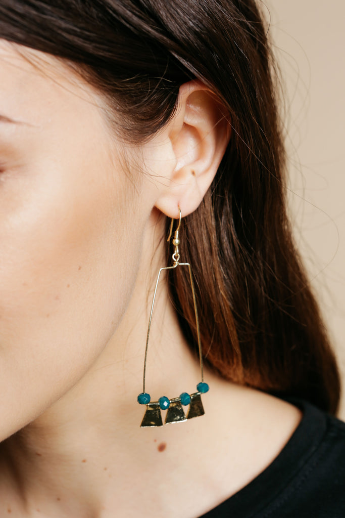 Petra Earrings Teal