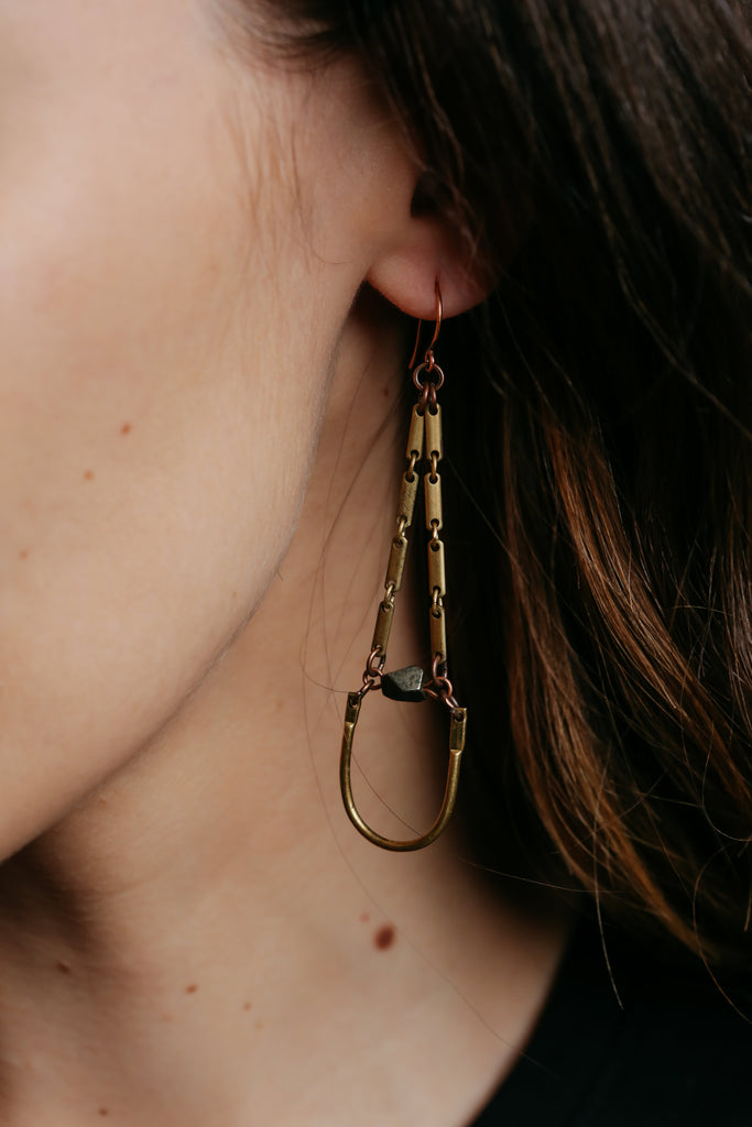 Pyrite & Bent Bar Dangles