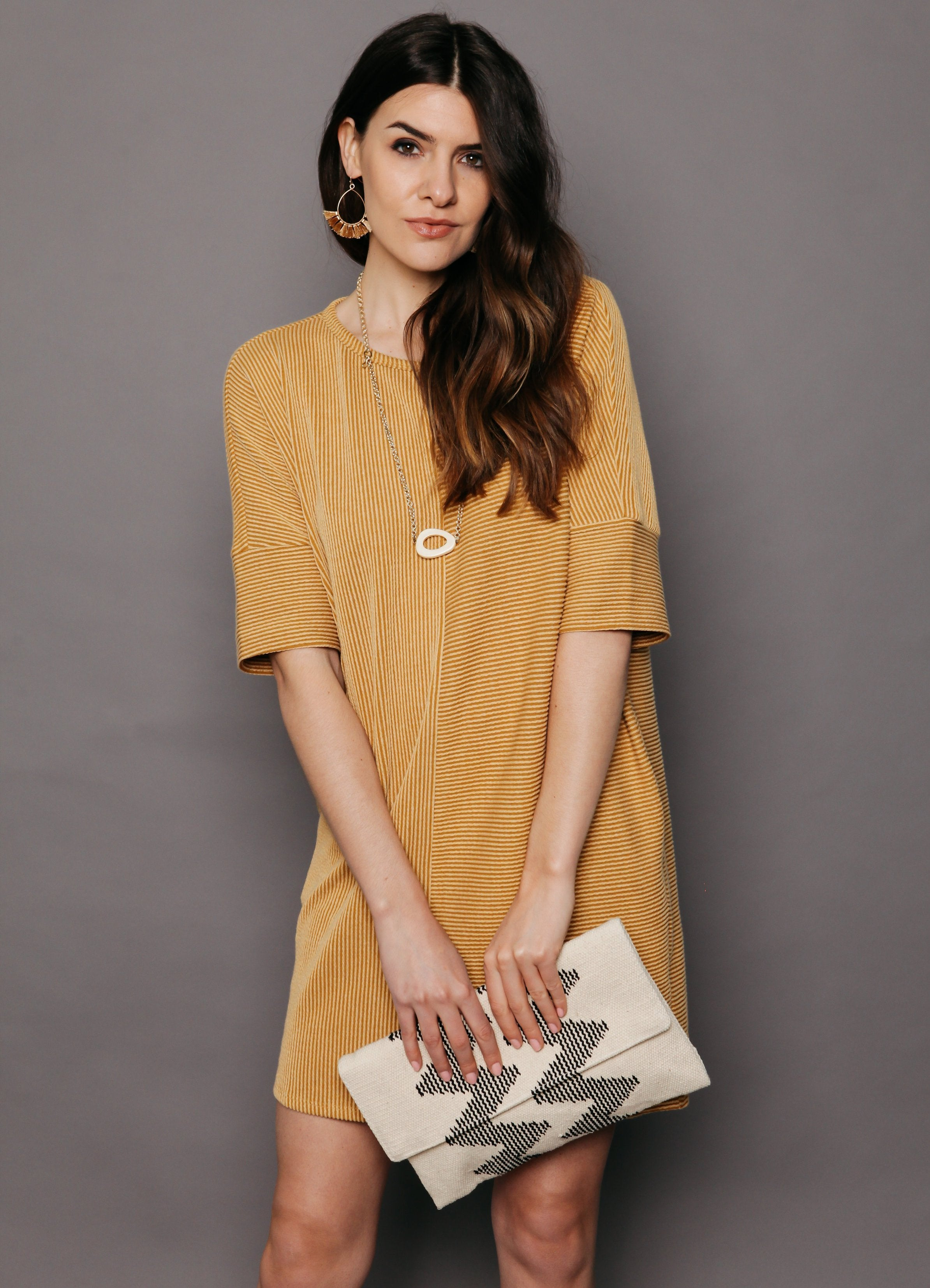 Reagan Dress - Mustard