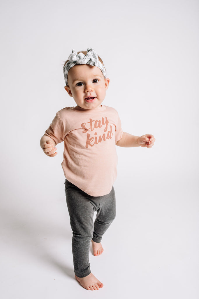 Stay Kind Tee - Peach
