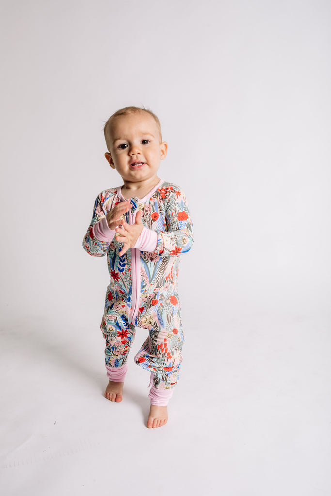 Convertible Romper/Sleeper - Floral