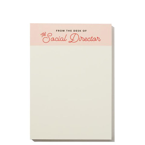 Social Director Notepad