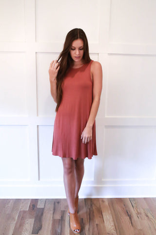 Sally Dress - Brick