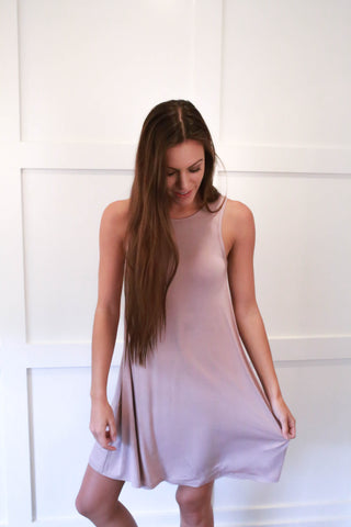 Sally Dress - Dusty Pink