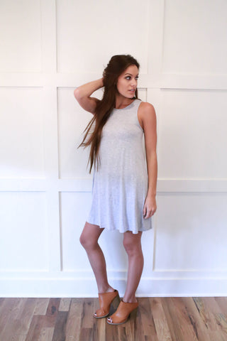 Sally Dress - Heather Grey