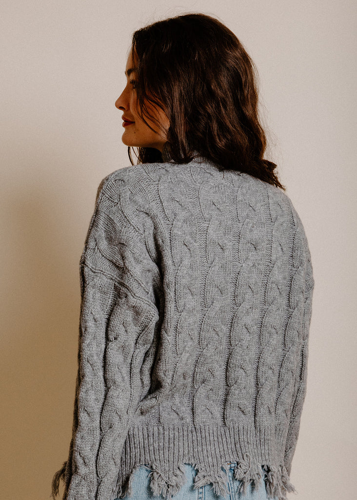 Sandstone Distressed Sweater - Grey