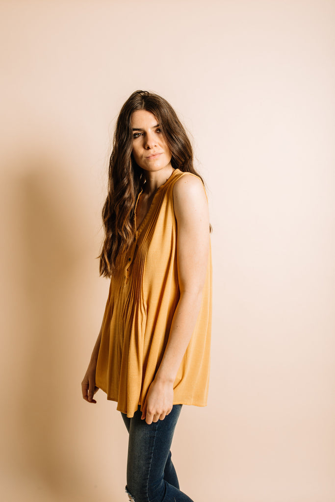Sawyer Top - Mustard