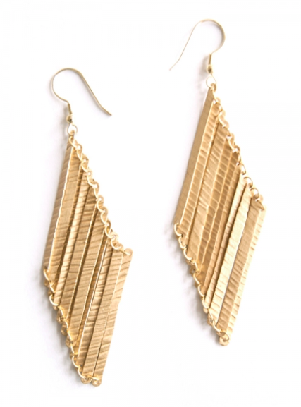 Layered Lines Earrings - Gold