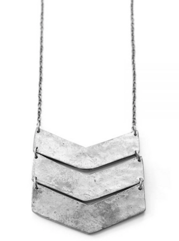 Chevron Necklace - Silver