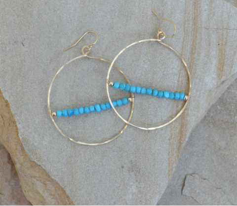 Margot Earrings - Turquoise