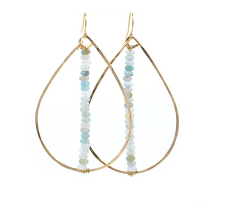 Henley Earrings — Amazonite