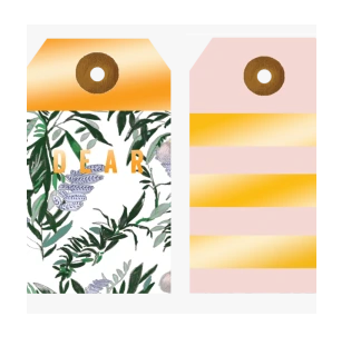 Foil Fern and Stripes Gift Tag